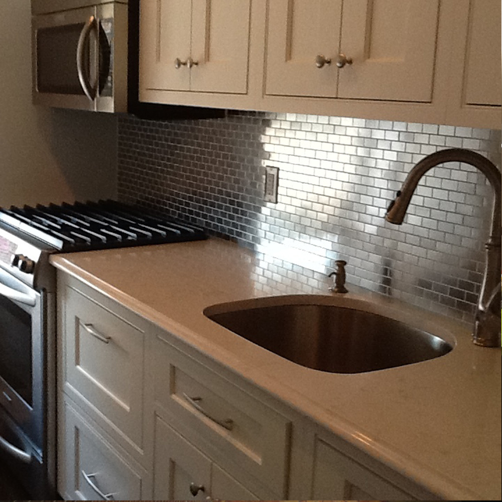 Stainless Steel 1x2 Kitchen Backsplash