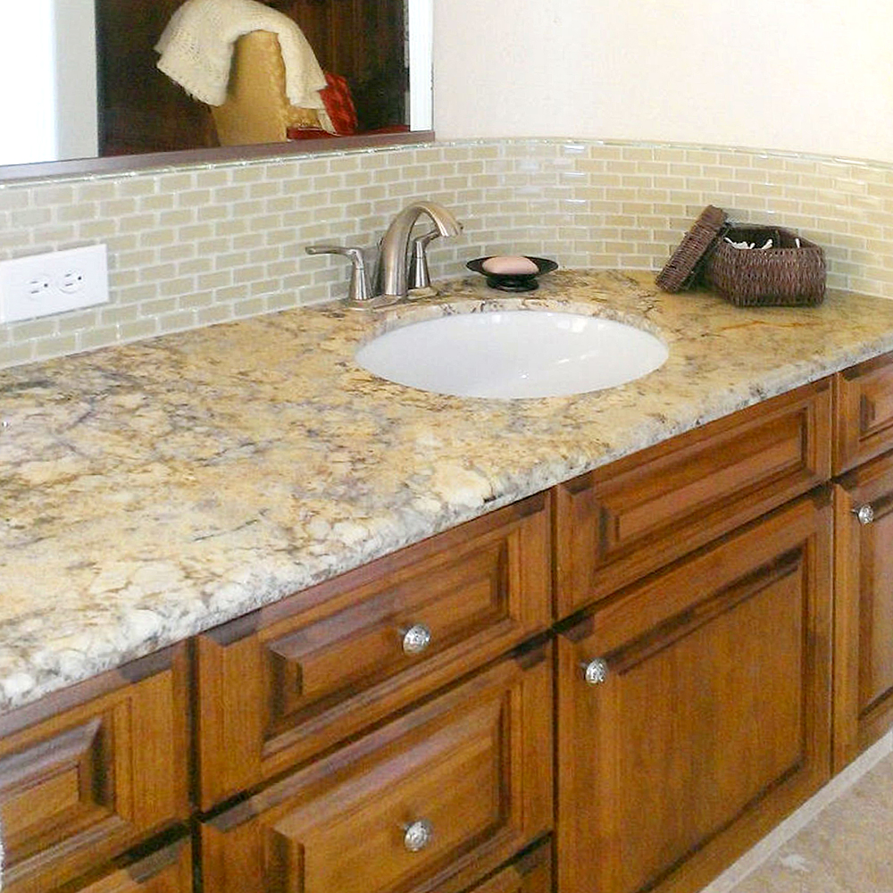 Khaki Mini Glass Bathroom Backsplash