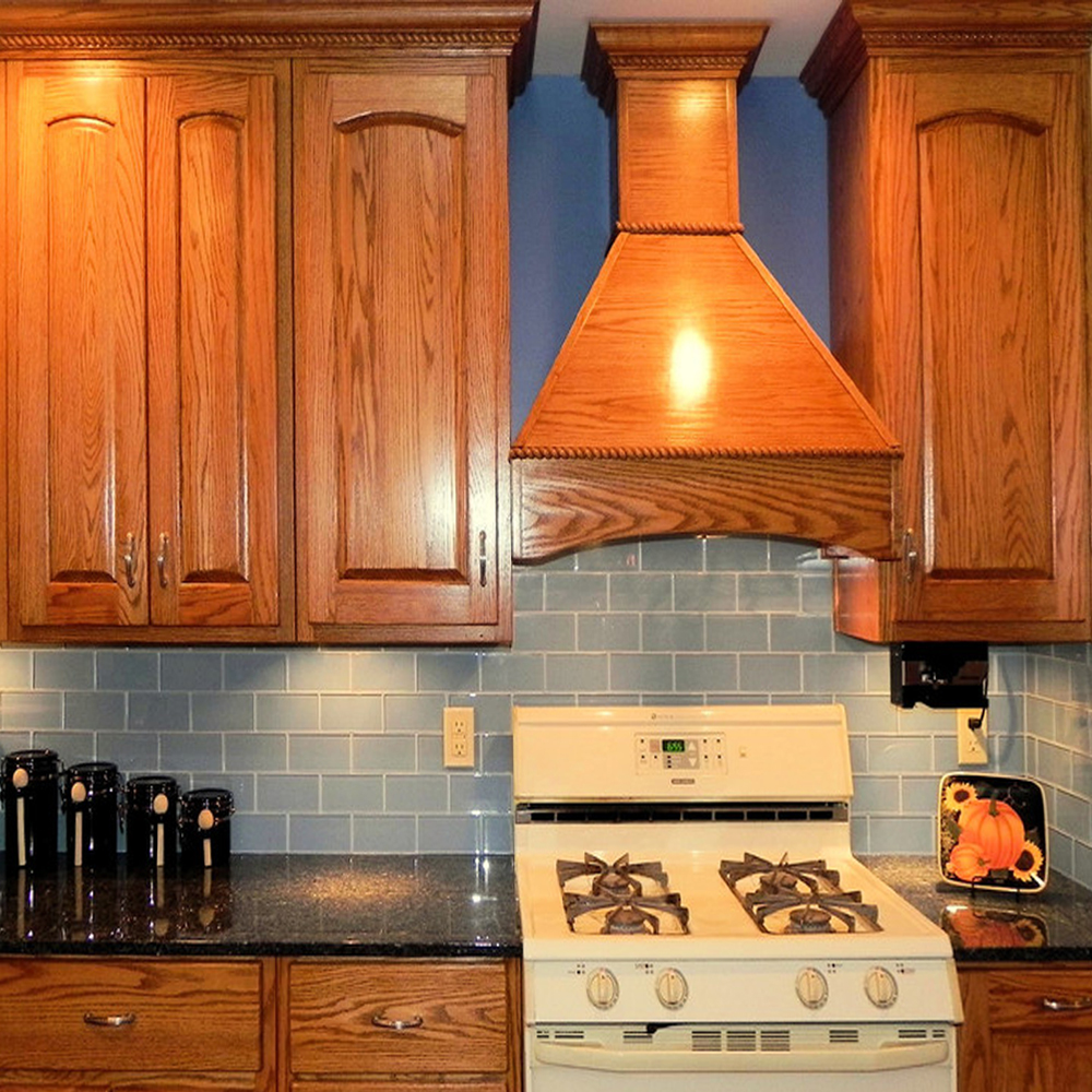 Ice Grey Glass Tile Backsplash
