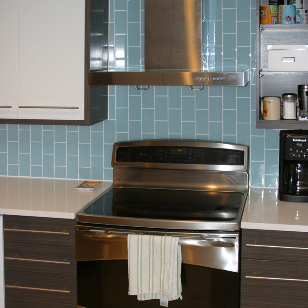 Vapor Verticle Kitchen Backsplash