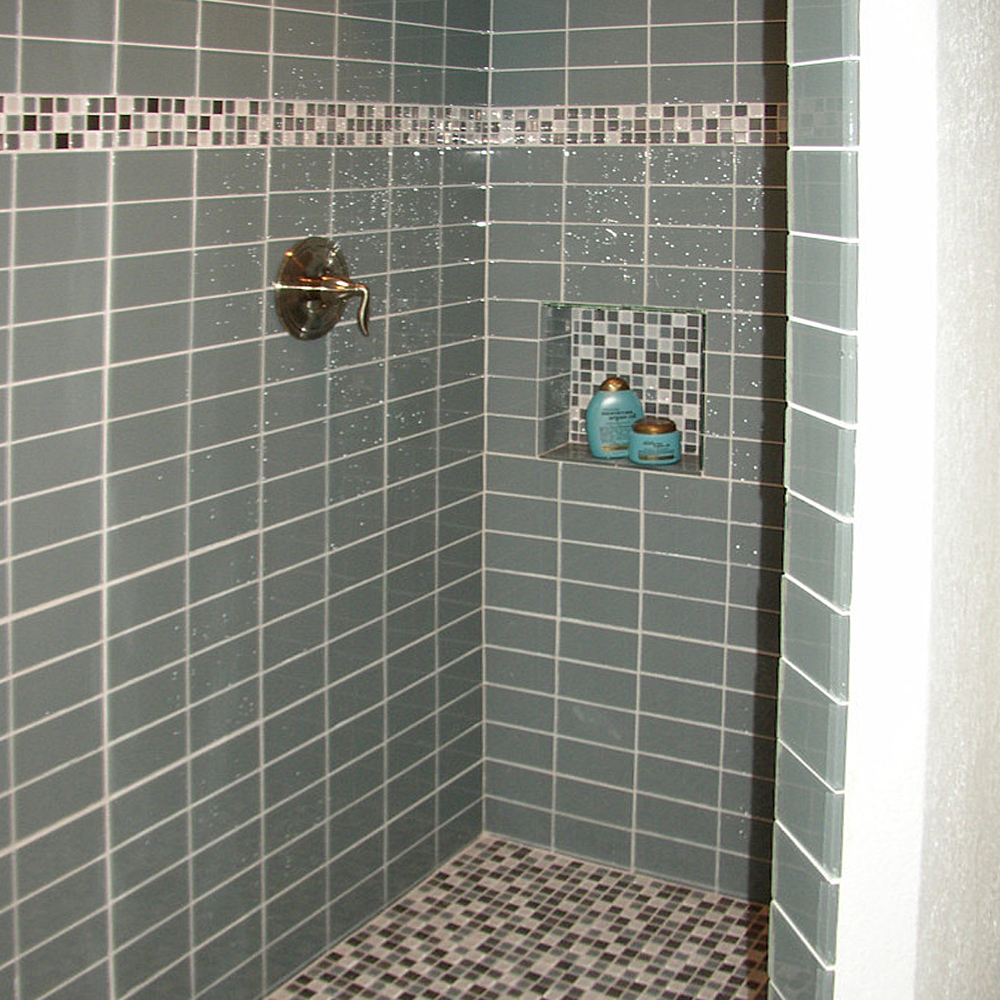 Ocean Glass Tile Shower
