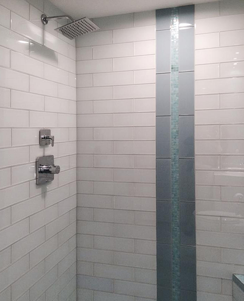 White Glass 4x12 Shower