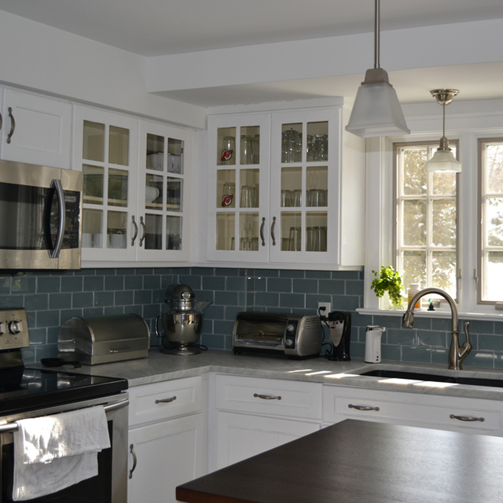 Ice Glass Kitchen Backsplash