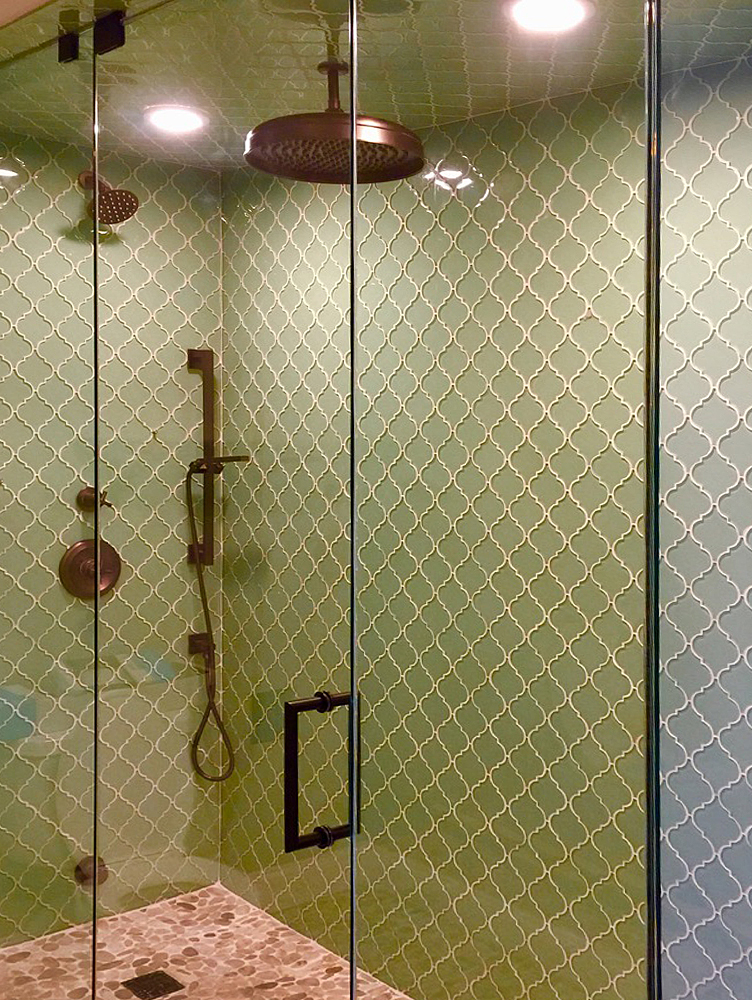 Surf Arabesque Steam Shower Wall and Ceiling