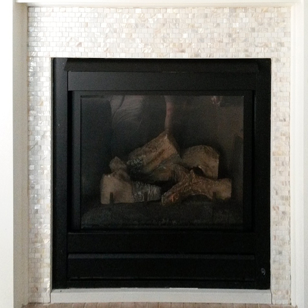 Mother of Pearl Fireplace Surround Before & After