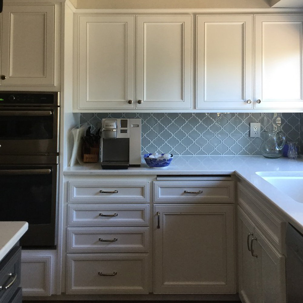 Smoke Arabesque Kitchen Backsplash