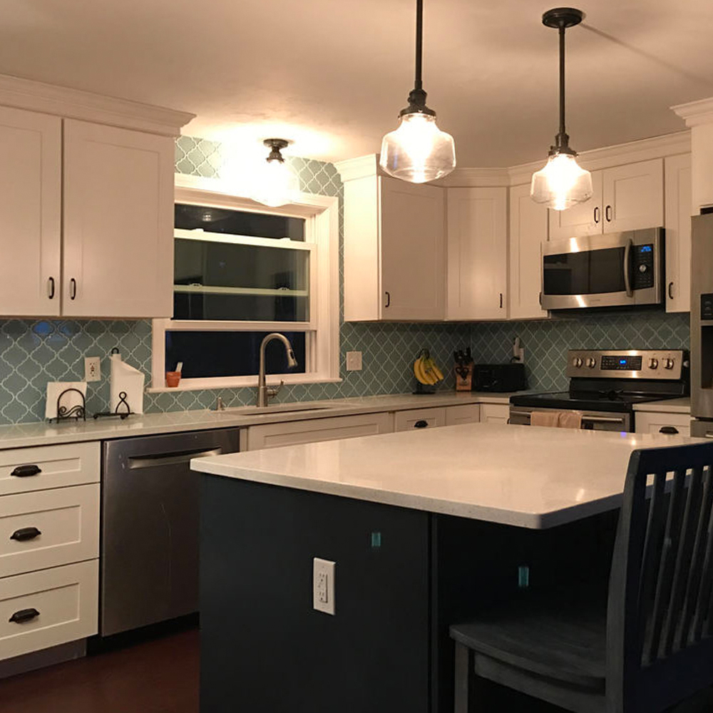 Vapor Arabesque Gourmet Kitchen Backsplash