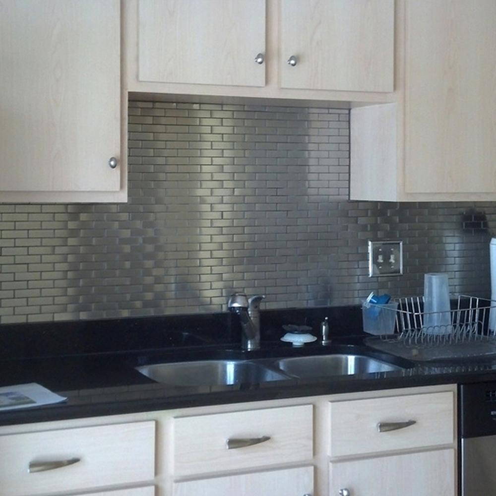 Stainless Steel Subway Tile Kitchen