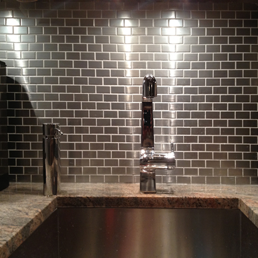 Stainless Steel Backsplash Subway