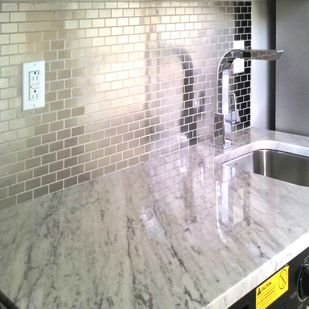 Modern Stainless Steel 1x2 Kitchen Backsplash