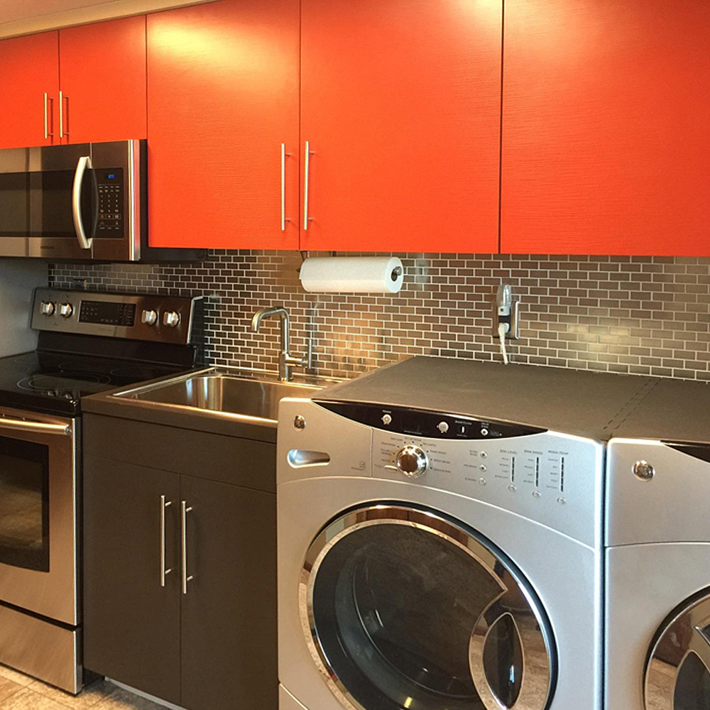 Stainless Steel Kitchenette and Laundry