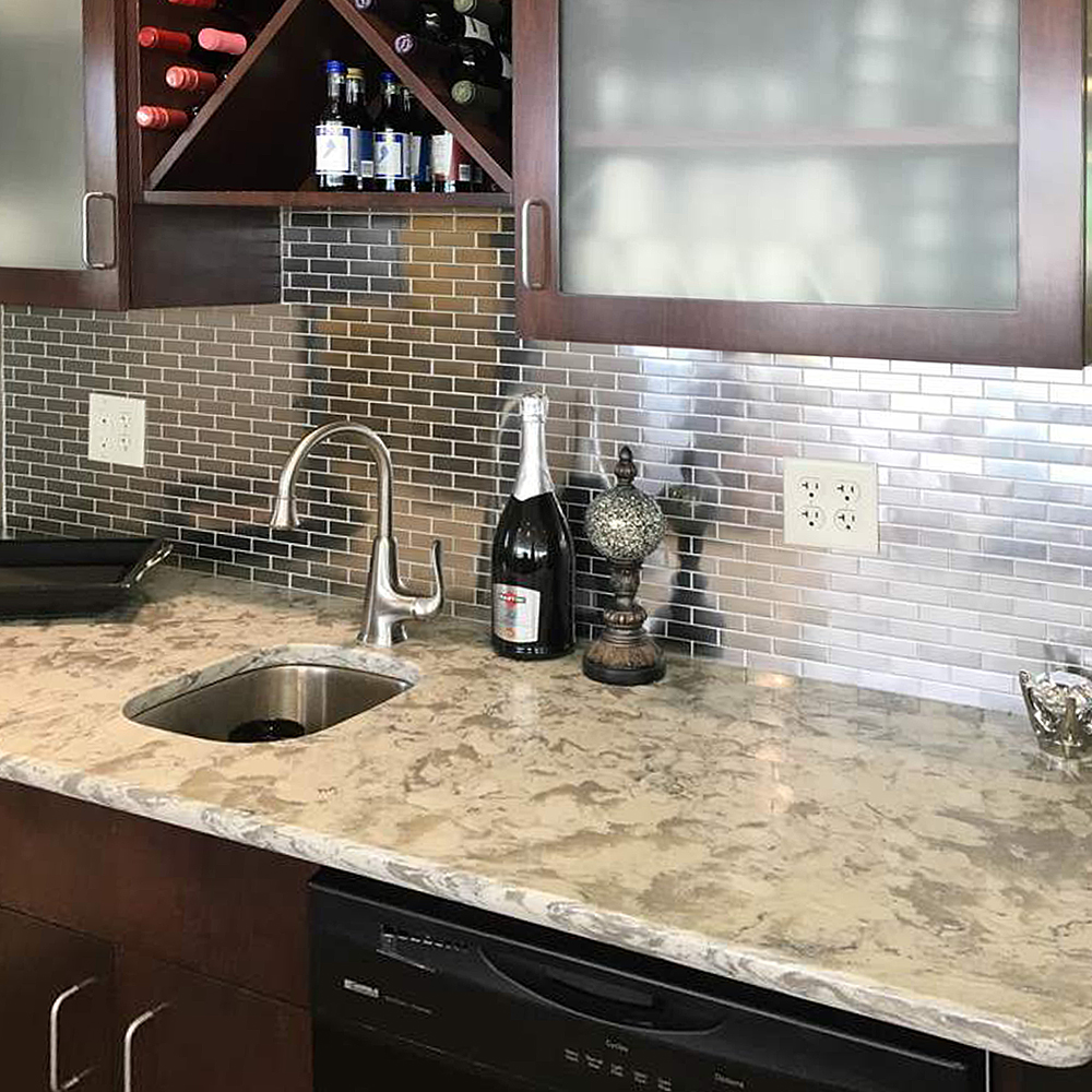 Stainless Steel 1x3 Bar Backsplash