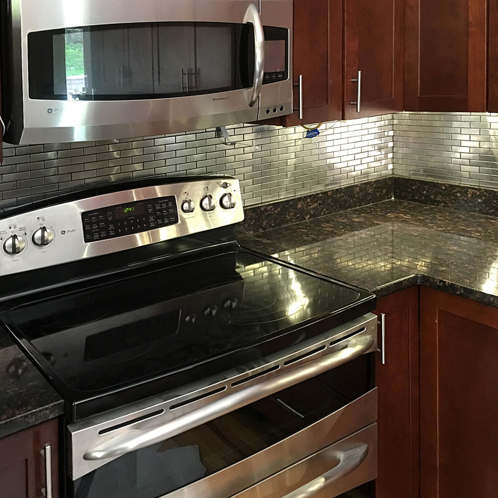 Stainless Steel 1x3 Backsplash