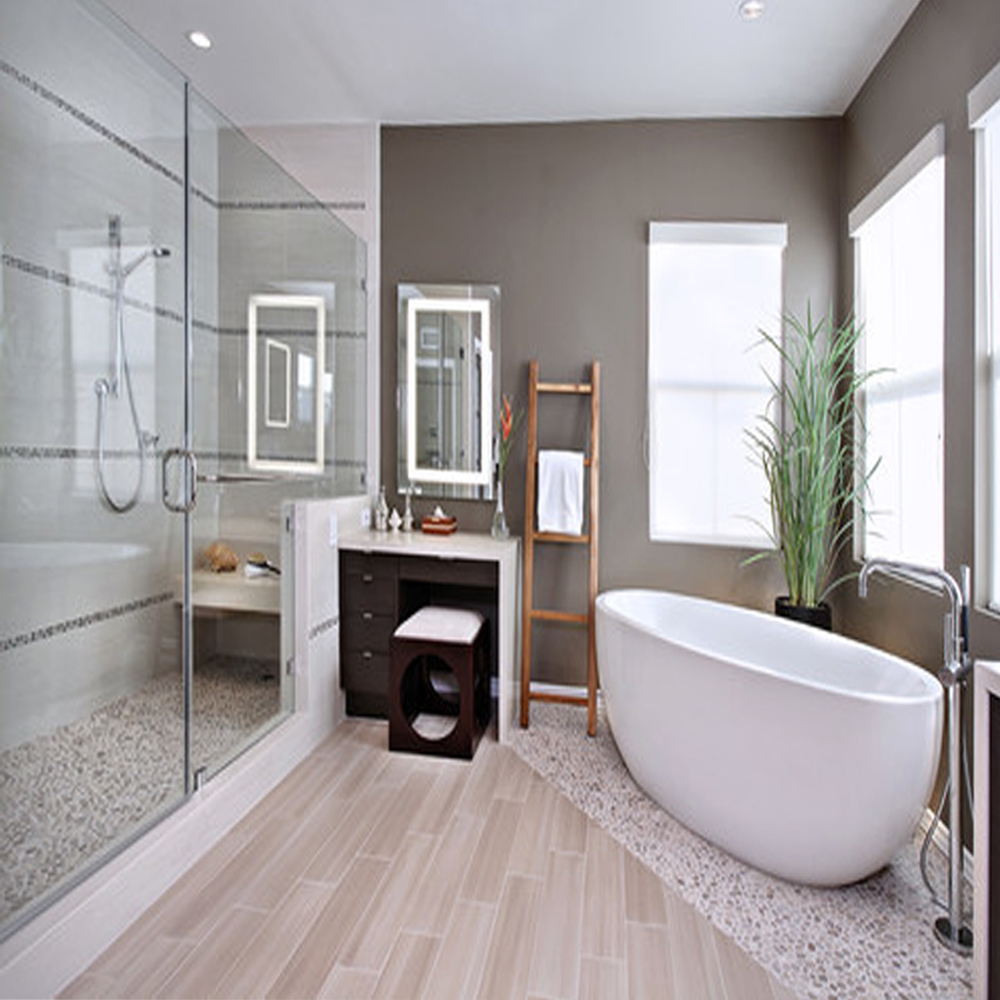 Bali Cloud Pebble Tile Bathroom Flooring & Shower