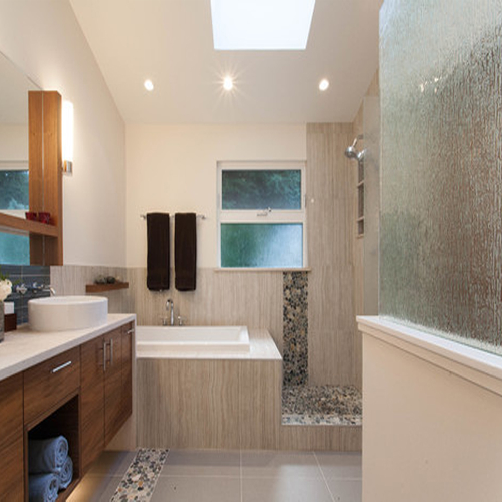 bali ocean pebble tile floor accent and shower pan