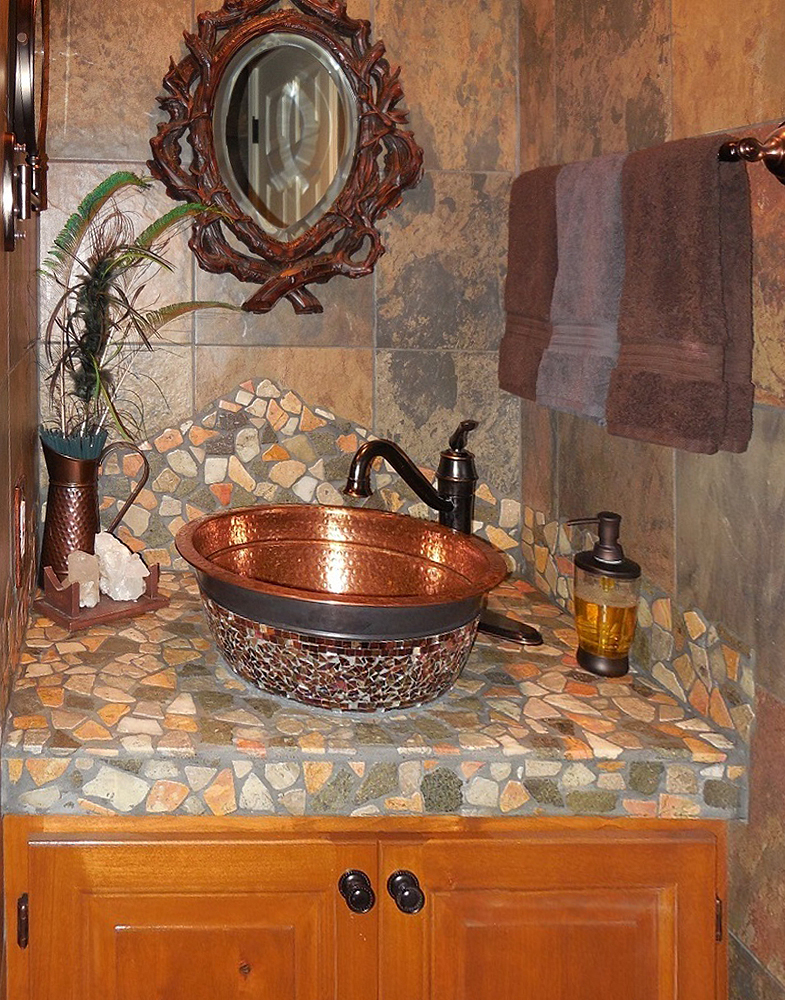 Glazed Autumn Sink Accent