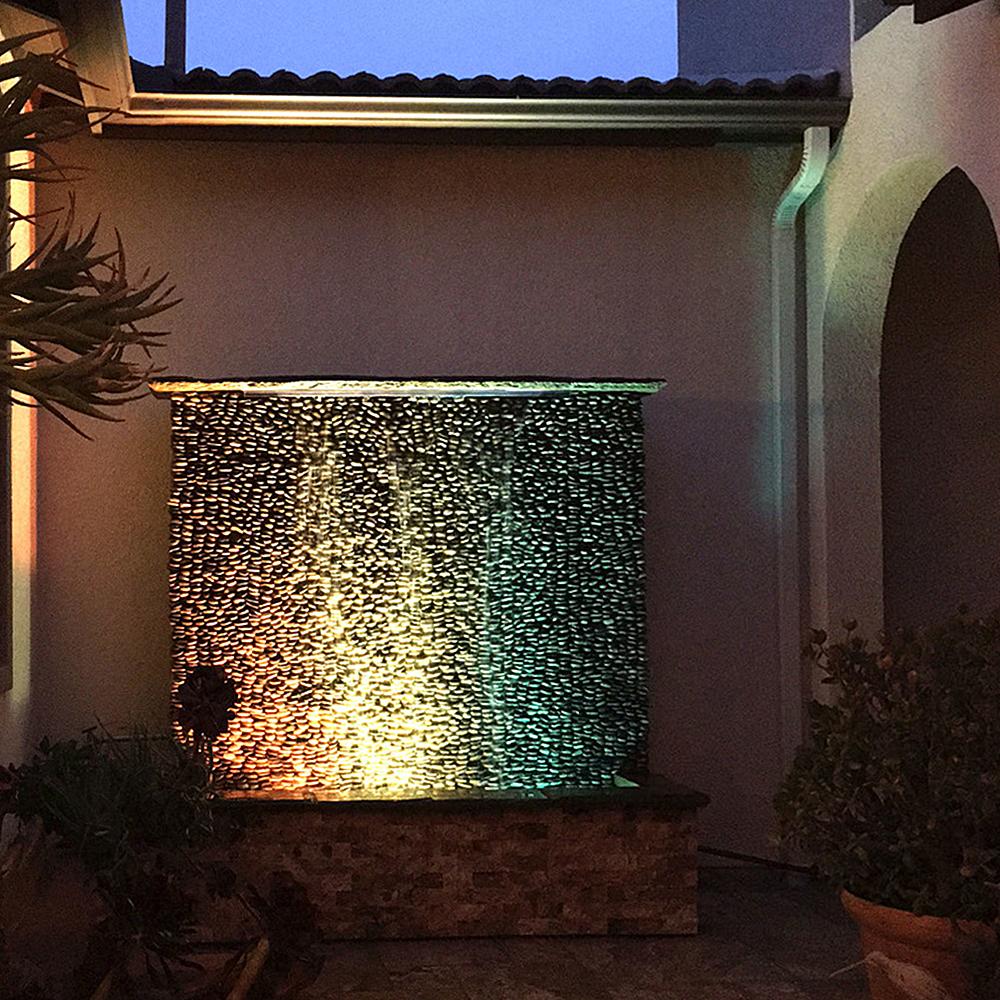 Stacked Pebble Tile Feature Wall Tilehub