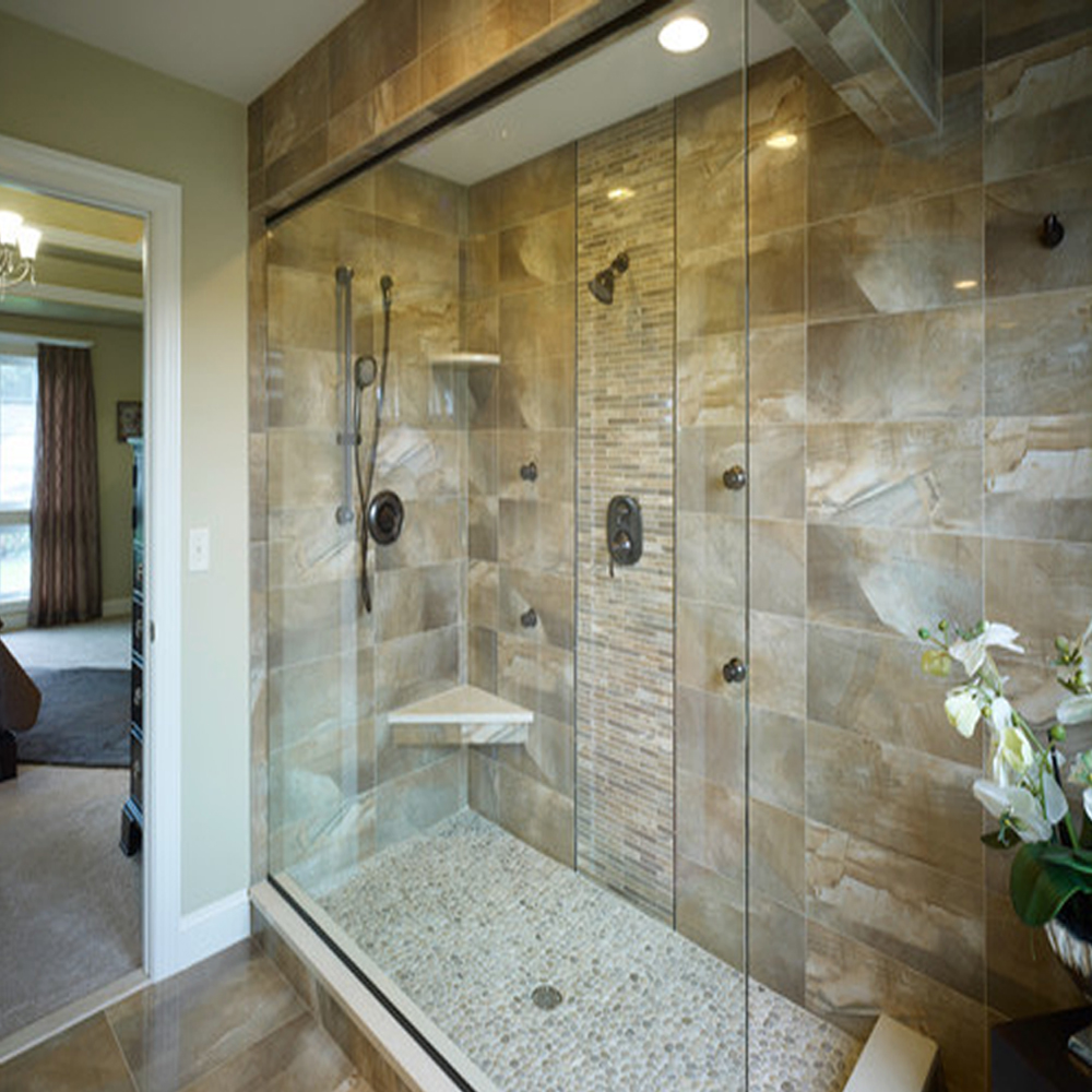 Bali Cloud Pebble Tile Shower Floor