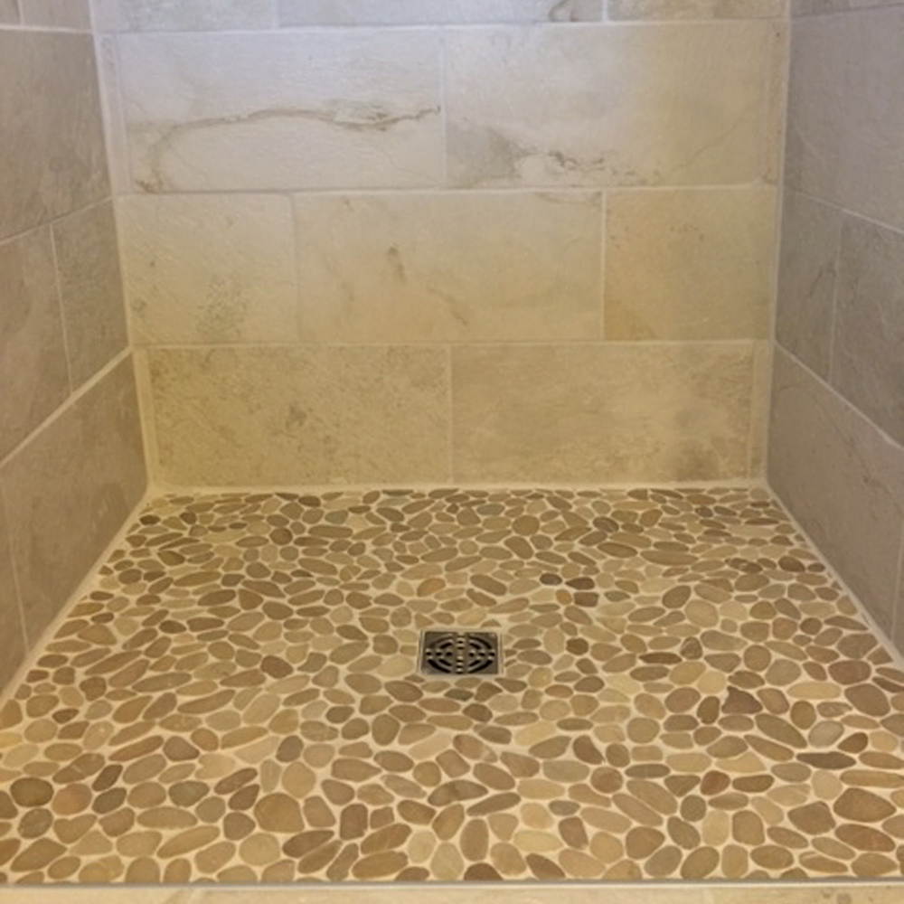 Sliced Java Tan Shower Floor