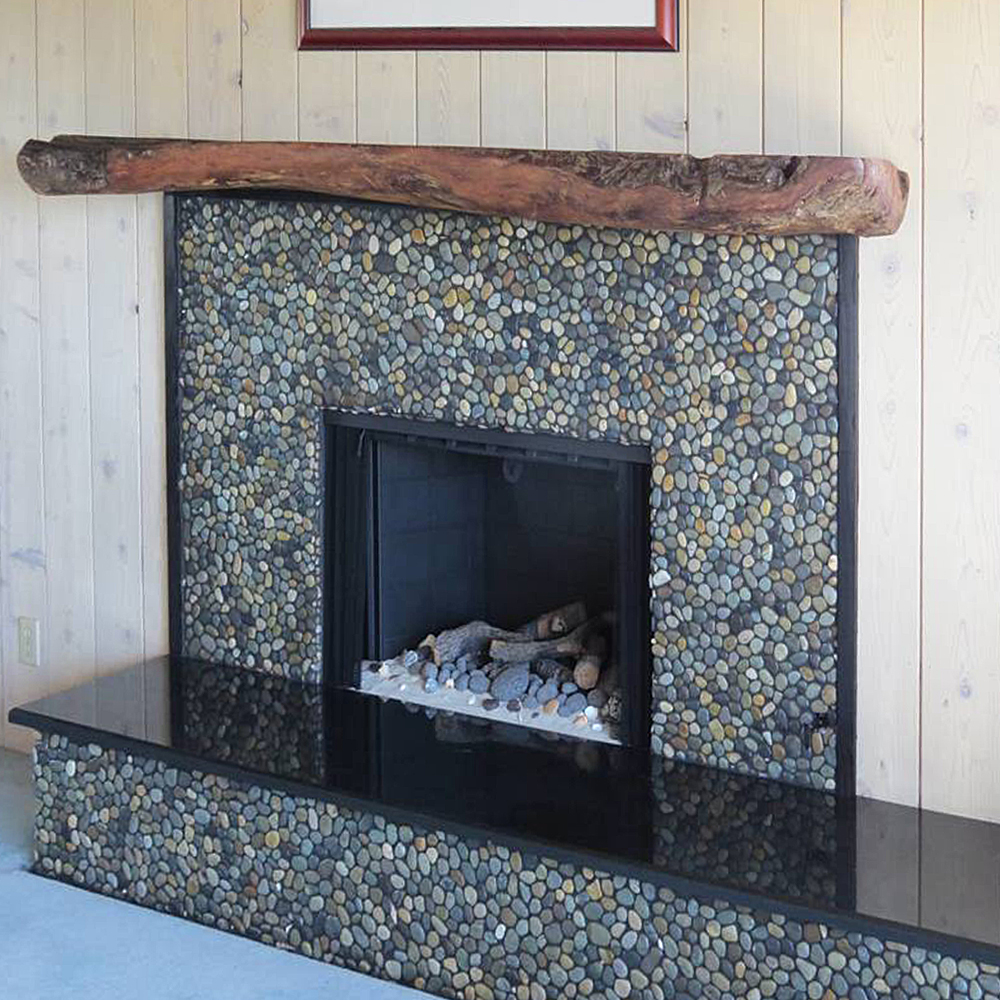 Glazed Bali Ocean Fireplace
