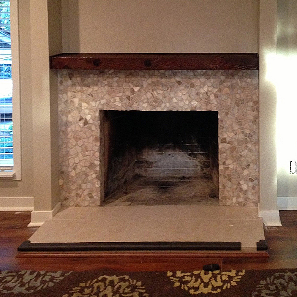 Mixed Quartz Fireplace Surround