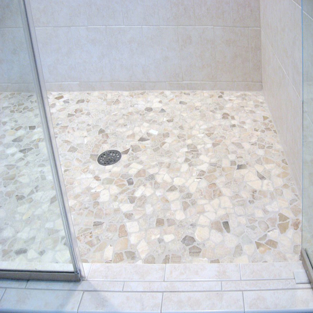 Quartz Mosaic Tile Shower Pan