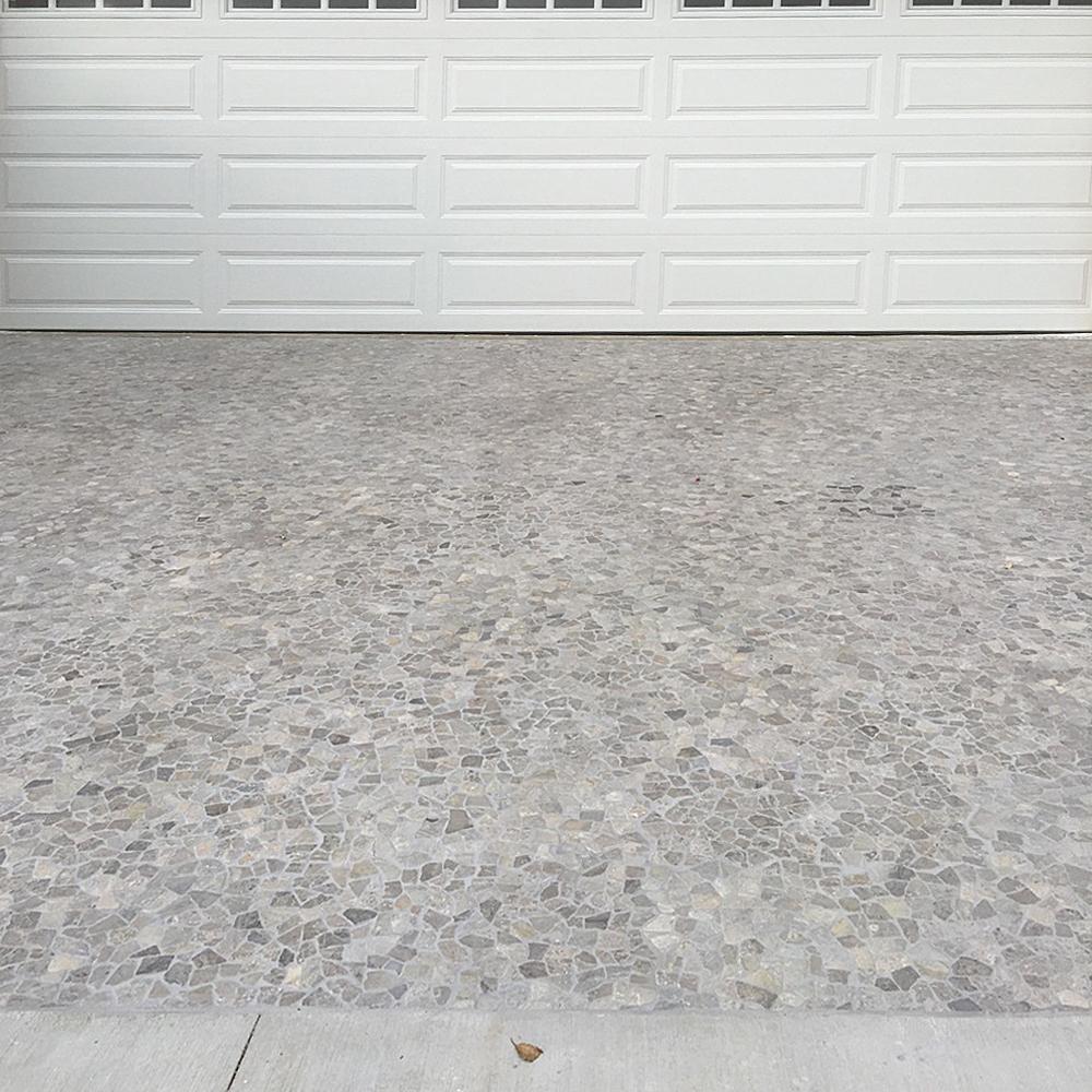 Stone Grey Pebble Mosaic Tile Driveway