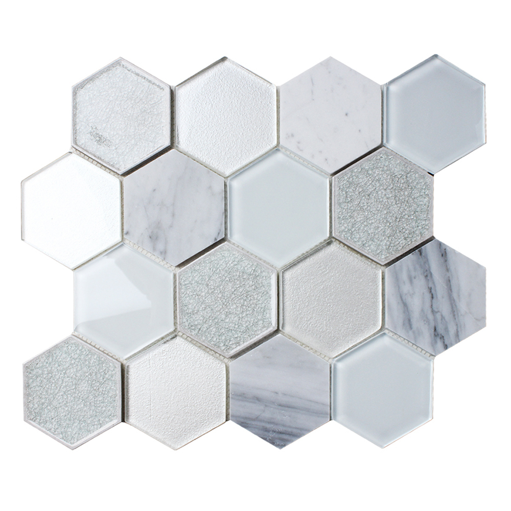 Mist Blend Stone Hexagon Tile