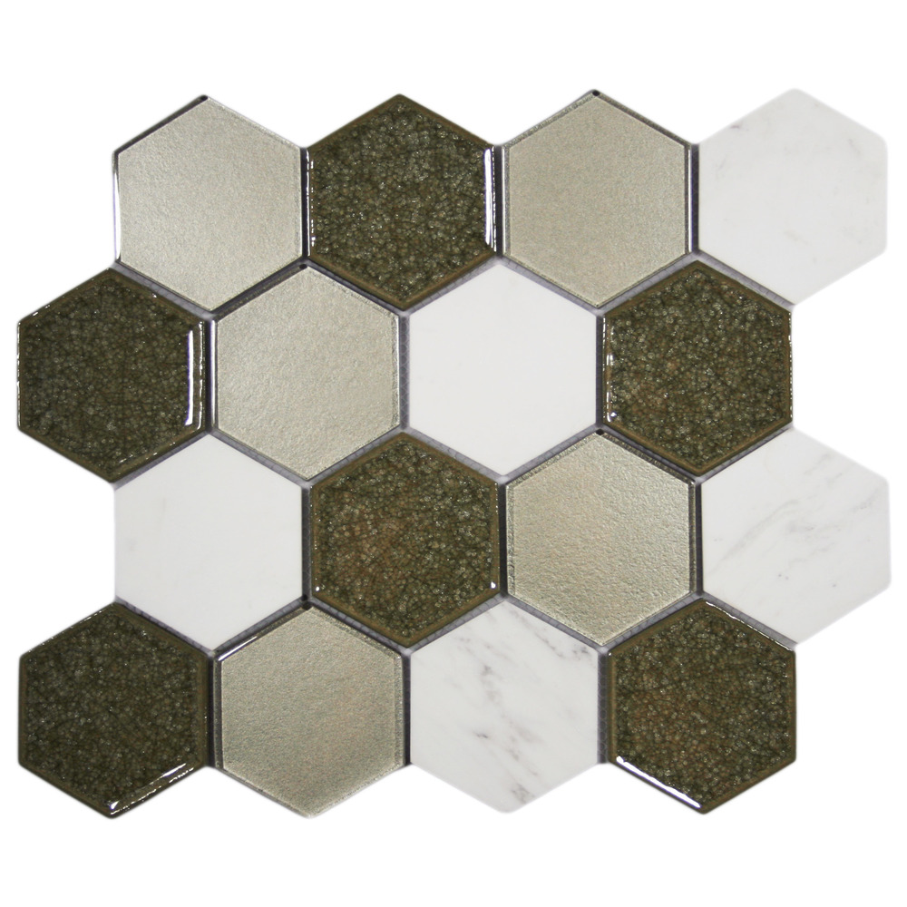 Sienna Blend Hexagon Tile