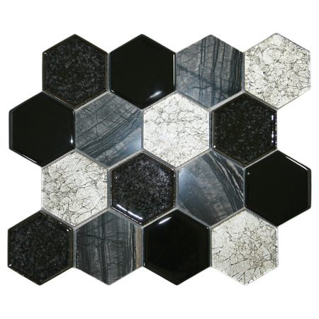 Mod Blend Stone Hexagon Tile