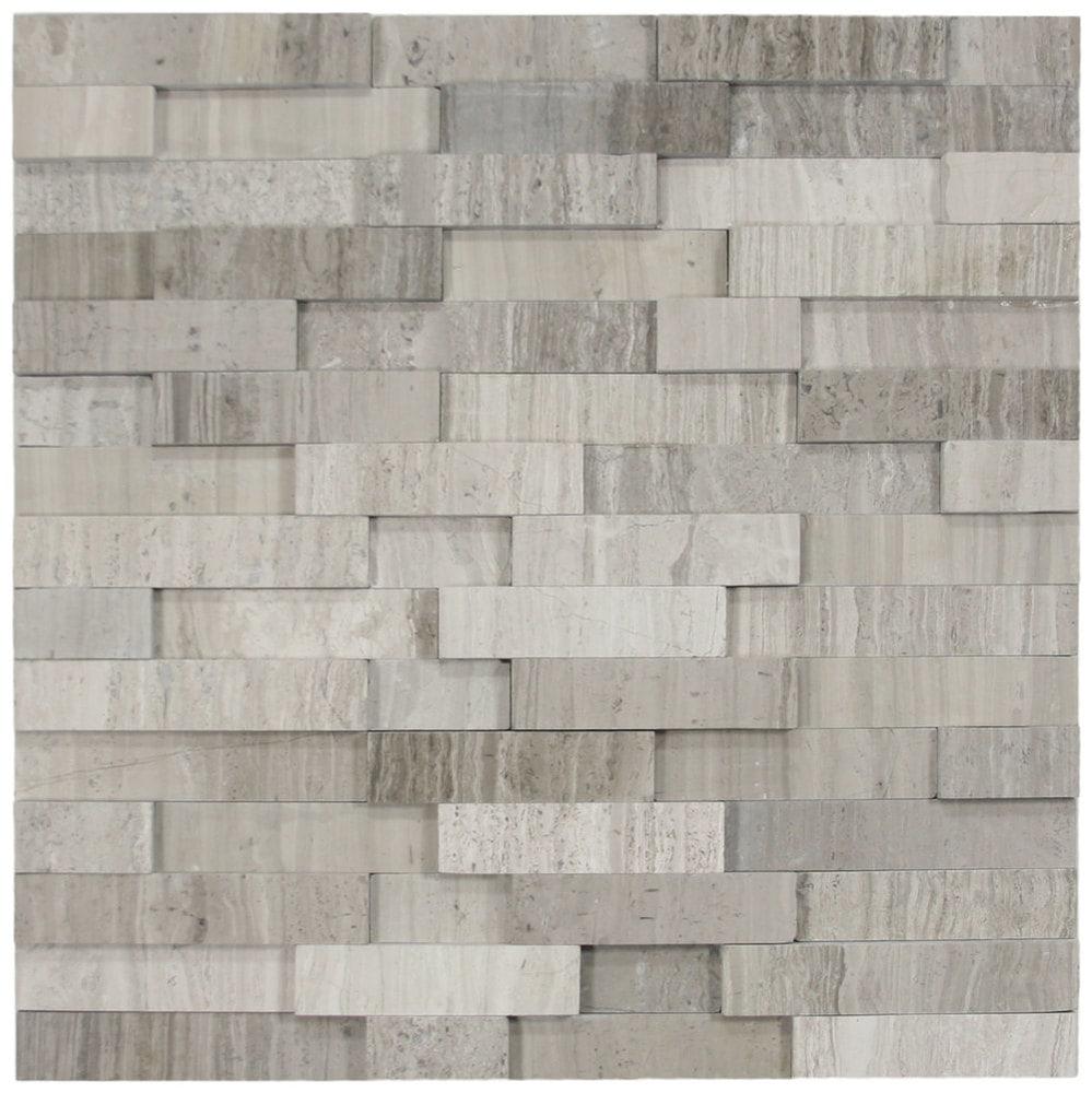 3d Polished Grey Brick Stone Tile