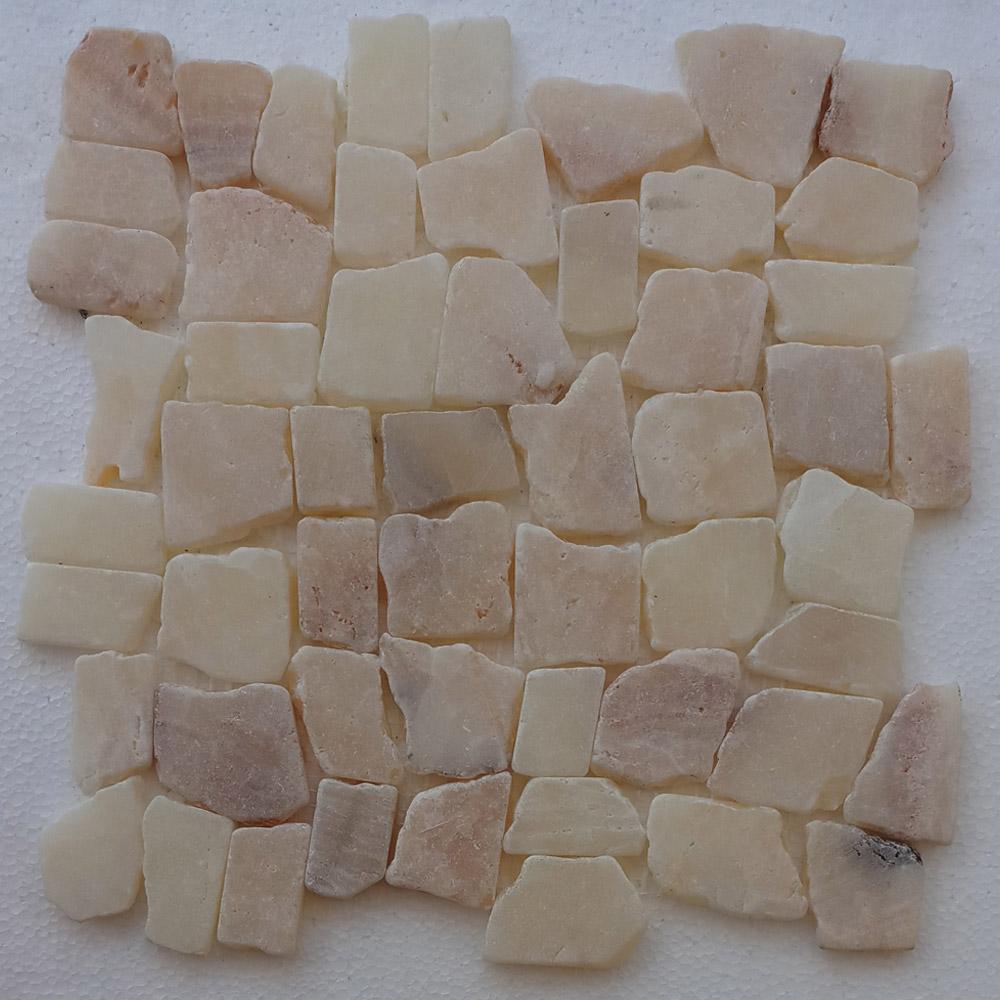 Mixed Quartz Blocks Mosaic Tile