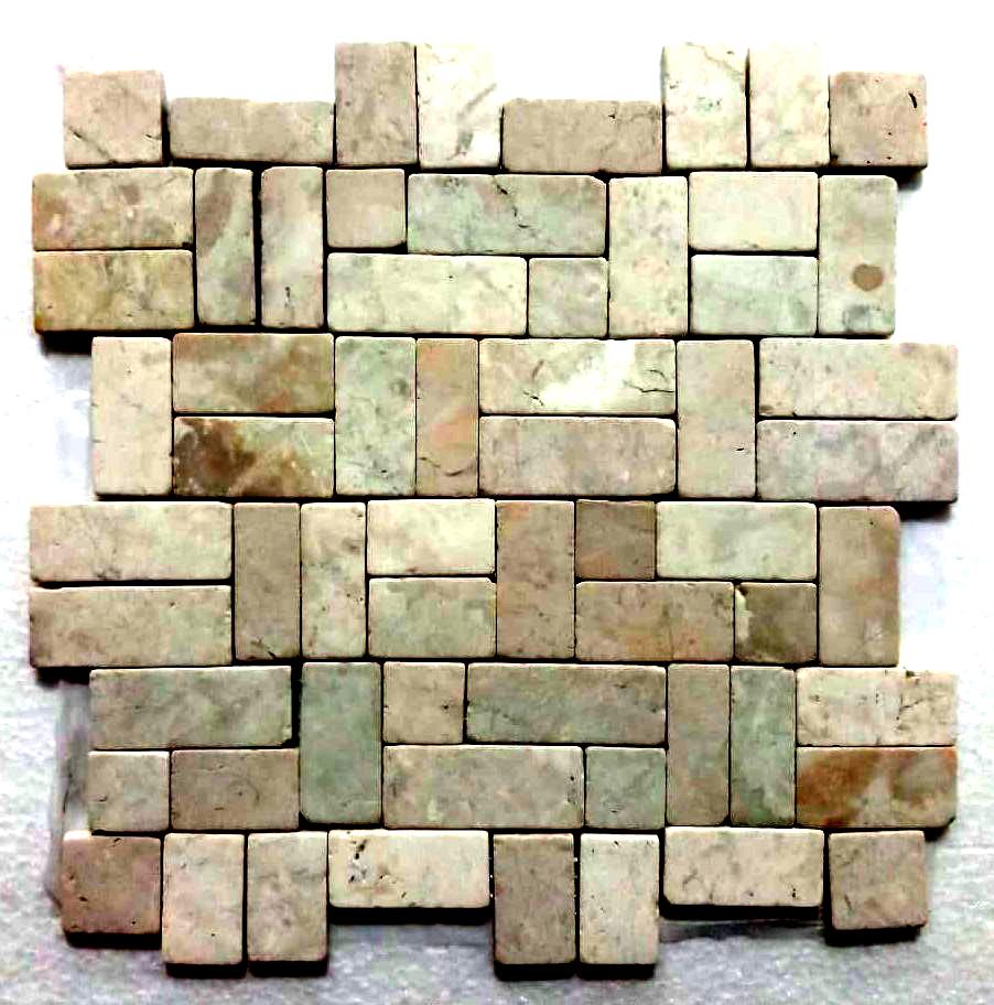 Ecru White New Antique Mosaic