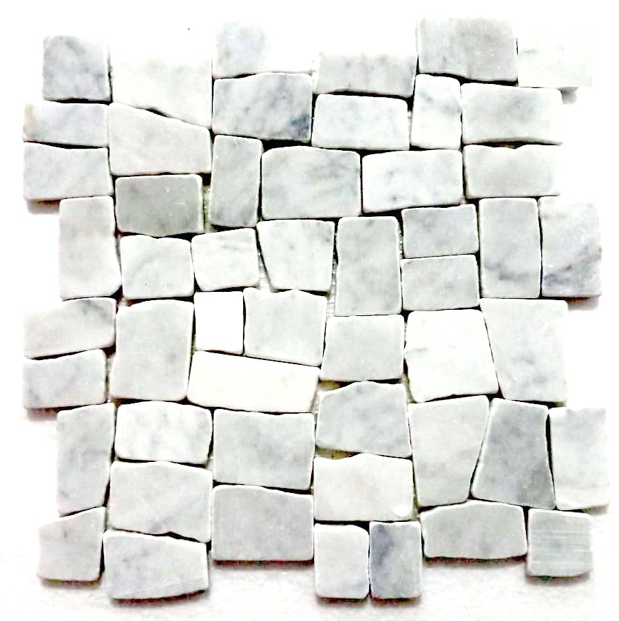 Super White Blocks Mosaic Tile