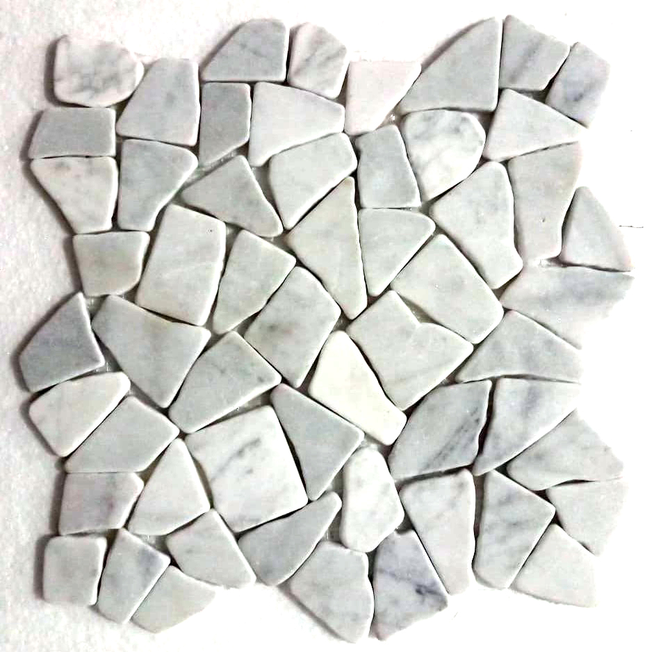 Super White Stone Mosaic Tile