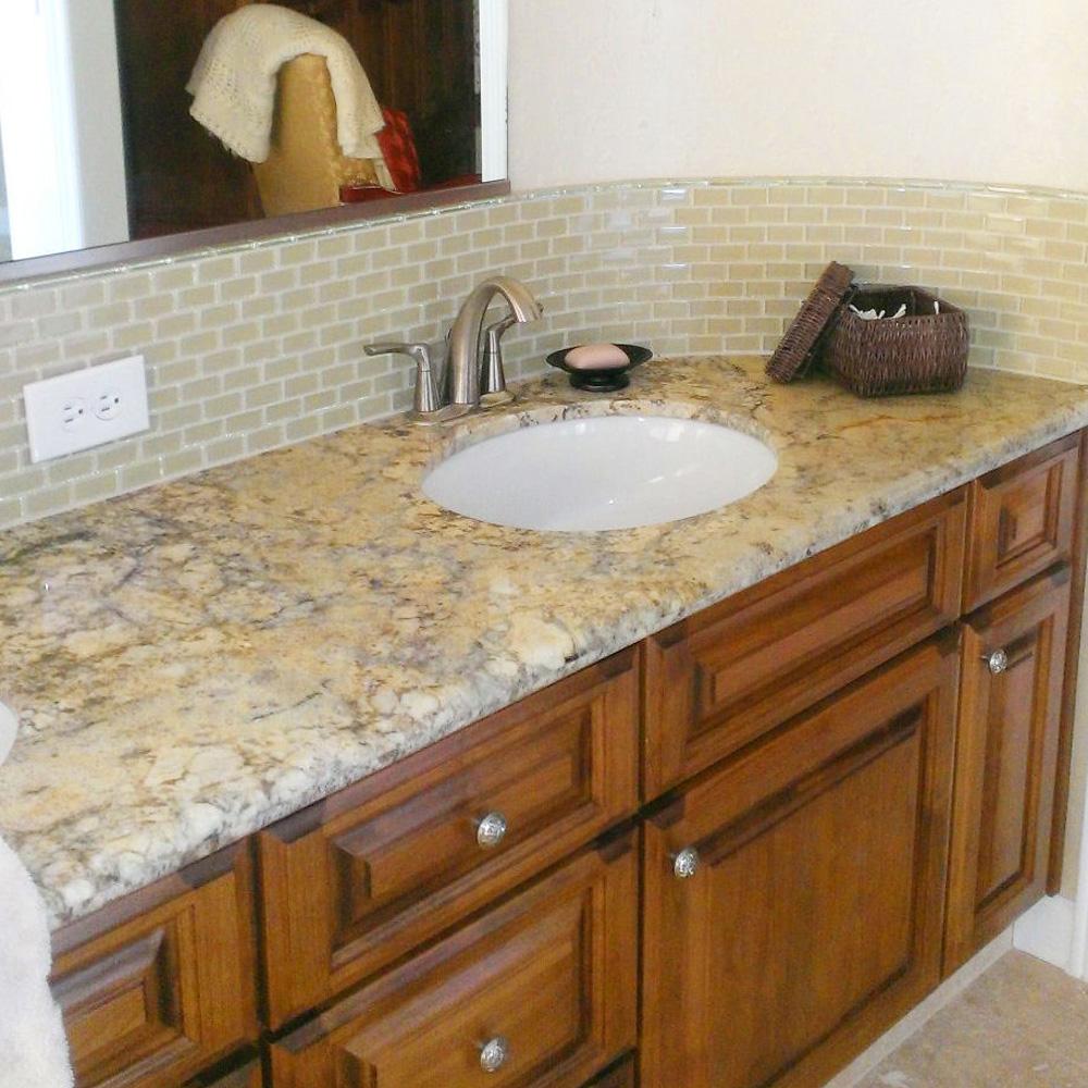 - Khaki 1x2 Mini Glass Subway Tile - Pebble Tile Shop