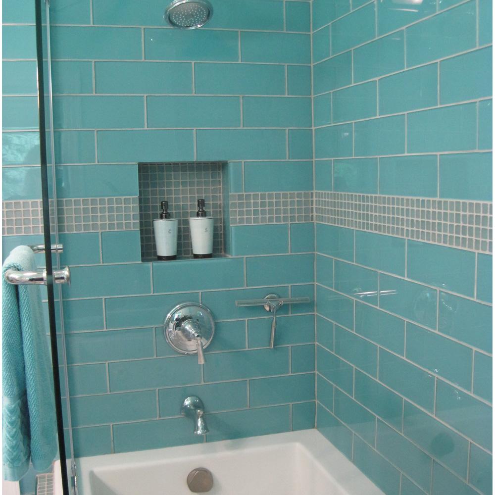 Aqua Gl 4 X 12 Subway Tile