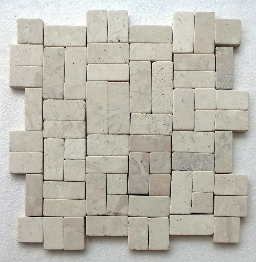 Ecru White New Antique Mosaic