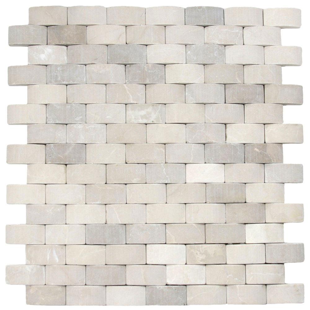 Arch Tan Stone Tile Pebble