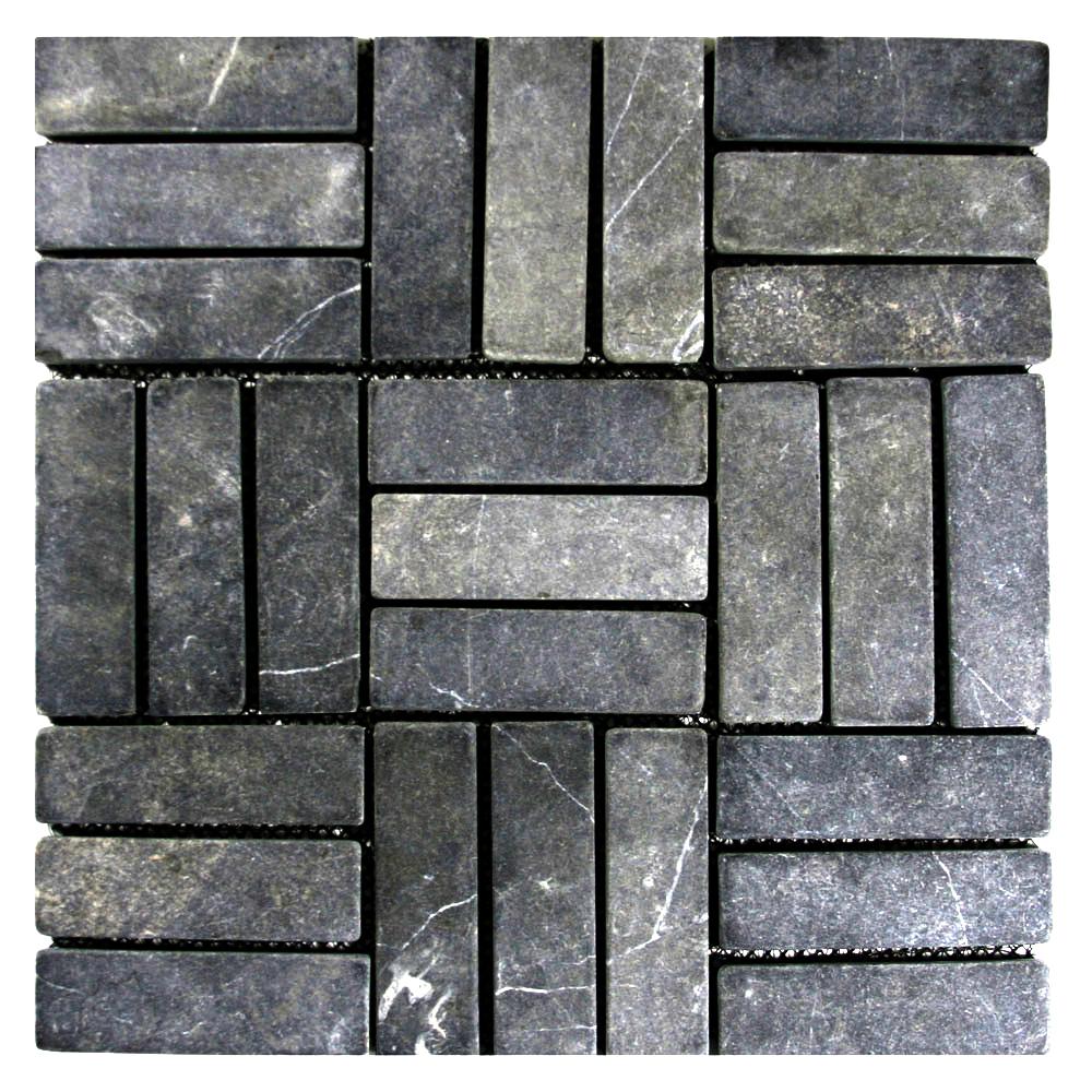 Grey Weave Stone Mosaic Tile Pebble