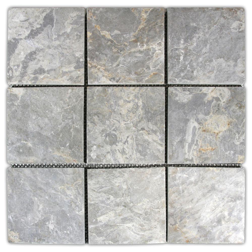 Light Grey 4 X 4 Stone Mosaic Tile Pebble Tile Shop