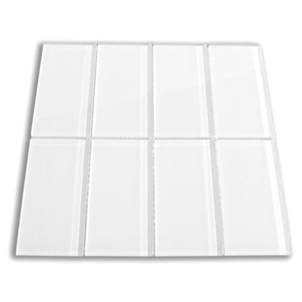 white glass subway tile