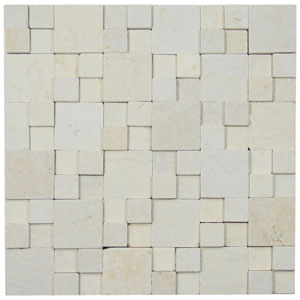 3d Cream Blocks Stone Tile