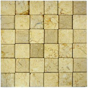 3d Polished Cream Squares Stone Tile