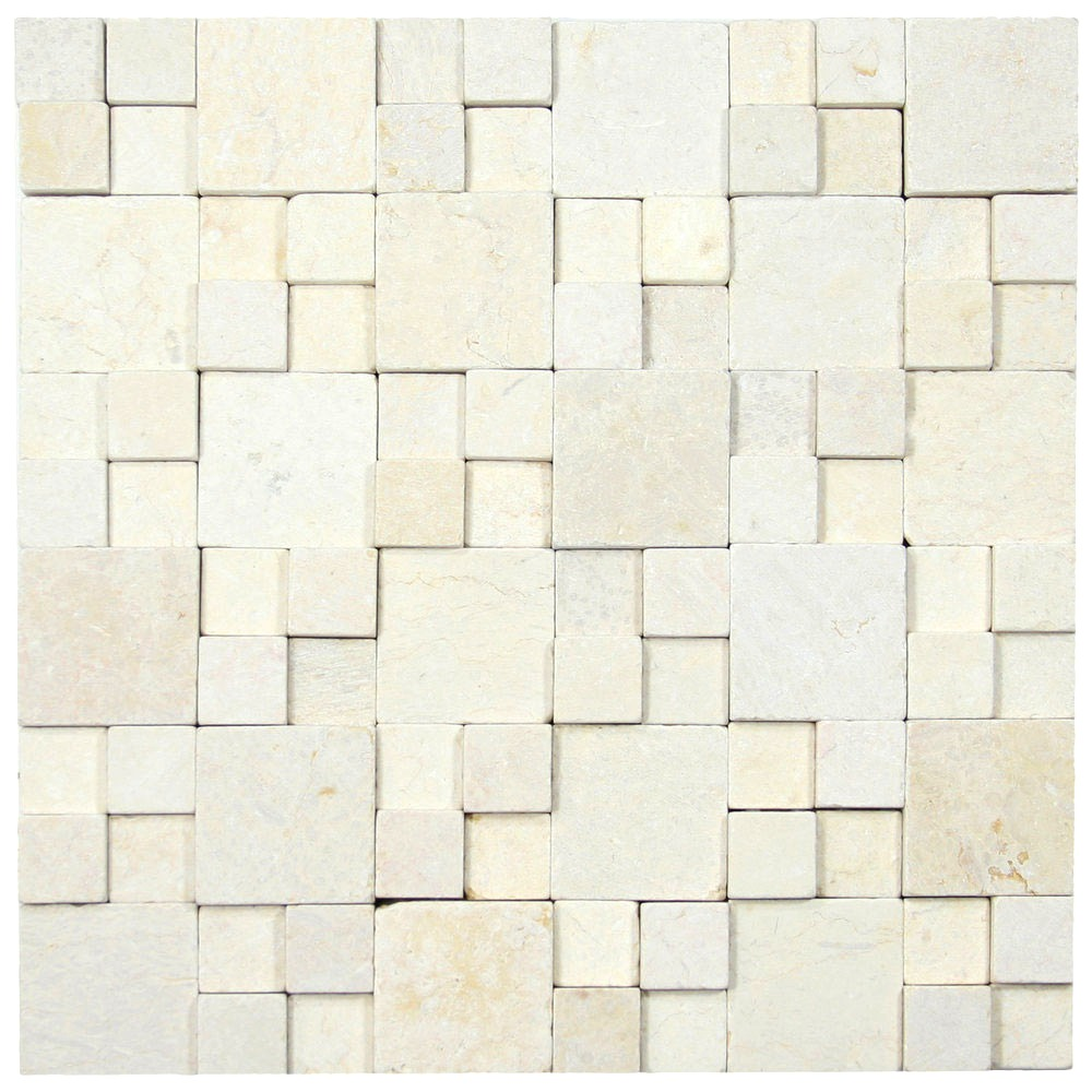 3d White Brick Stone Tile