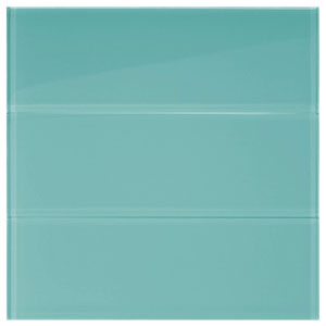 "Aqua Glass 4"" x 12"" Subway Tile"