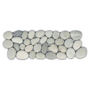 Bali Cloud Pebble Tile Border