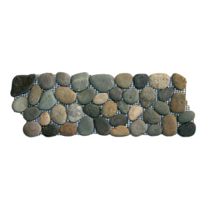 Bali Ocean Pebble Tile Border