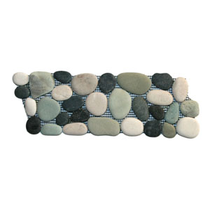 Bali Turtle Pebble Tile Border