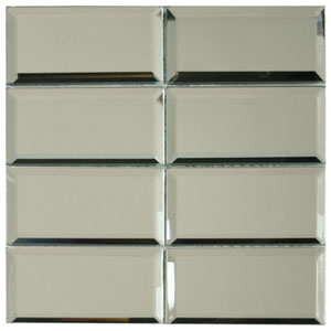 Beveled Mirror Glass Subway Tile